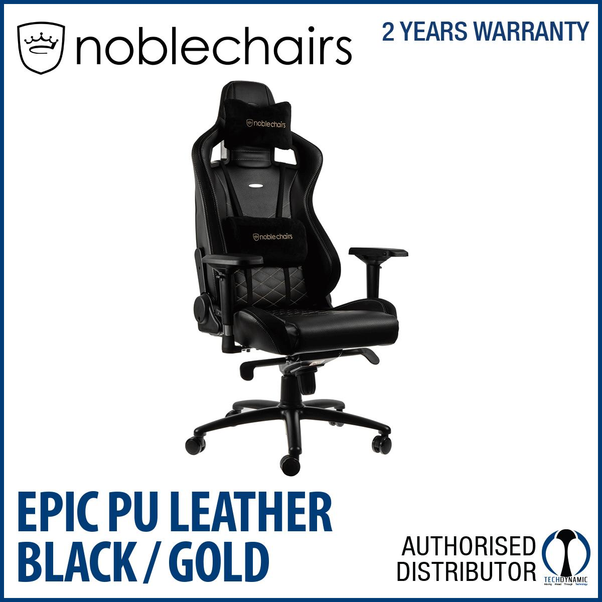 Low Price Noble Chairs Gaming Chair Epic Series Black Gold
