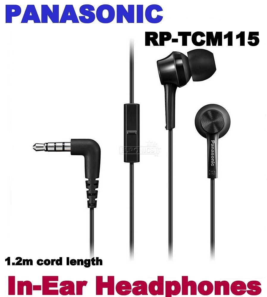 PANASONIC In-Ear Headphones RP-TCM115 WITH MIC