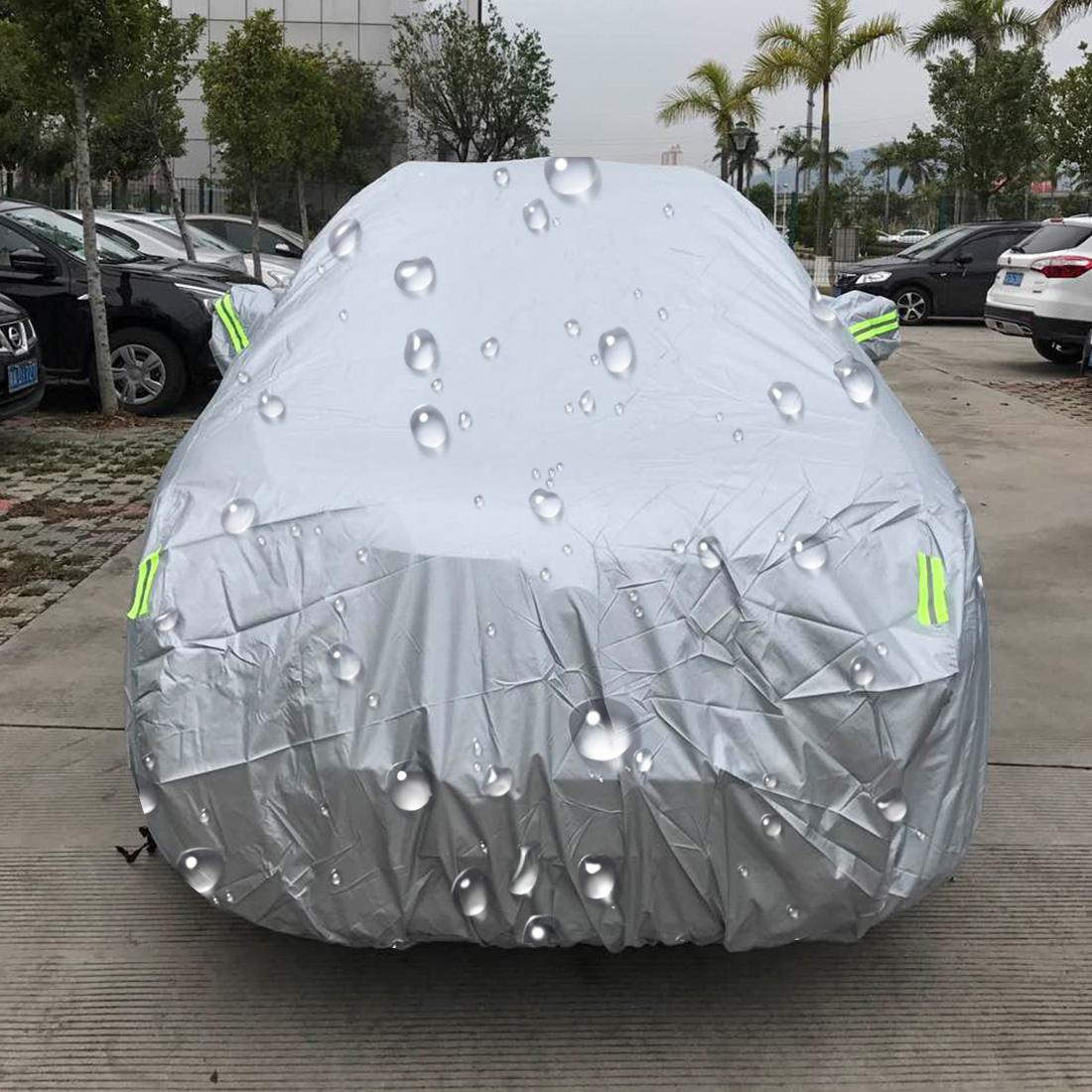 Discount Outdoor Universal Anti Dust Waterproof Sunproof Suv Car Cover With Warning Strips Fits Cars Up To 5 3M 207 Inches In Length Intl Sunsky China