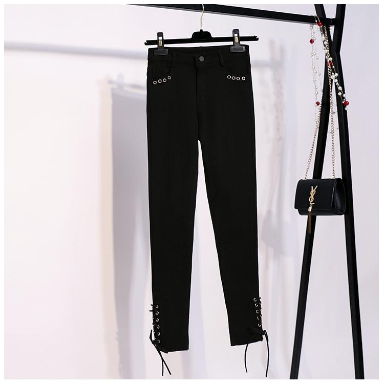 Autumn And Winter New Style Small Maquillage Slimming Bandage Cloth Black High Waist Jeans Tight Skinny Elasticity Pencil Pants Leggings By Taobao Collection.