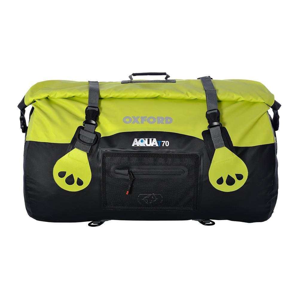Oxford Aqua T-70 Roll Bag - Black/Fluo