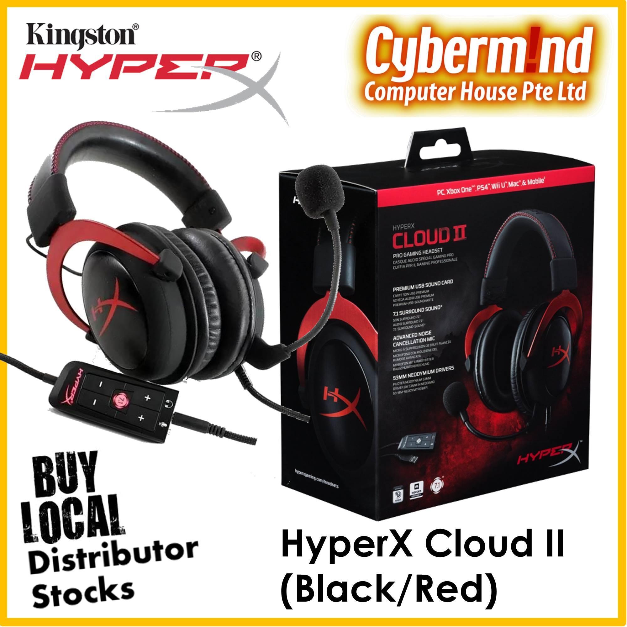 Purchase Kingston Hyperx Cloud Ii Gaming Headset Black Red