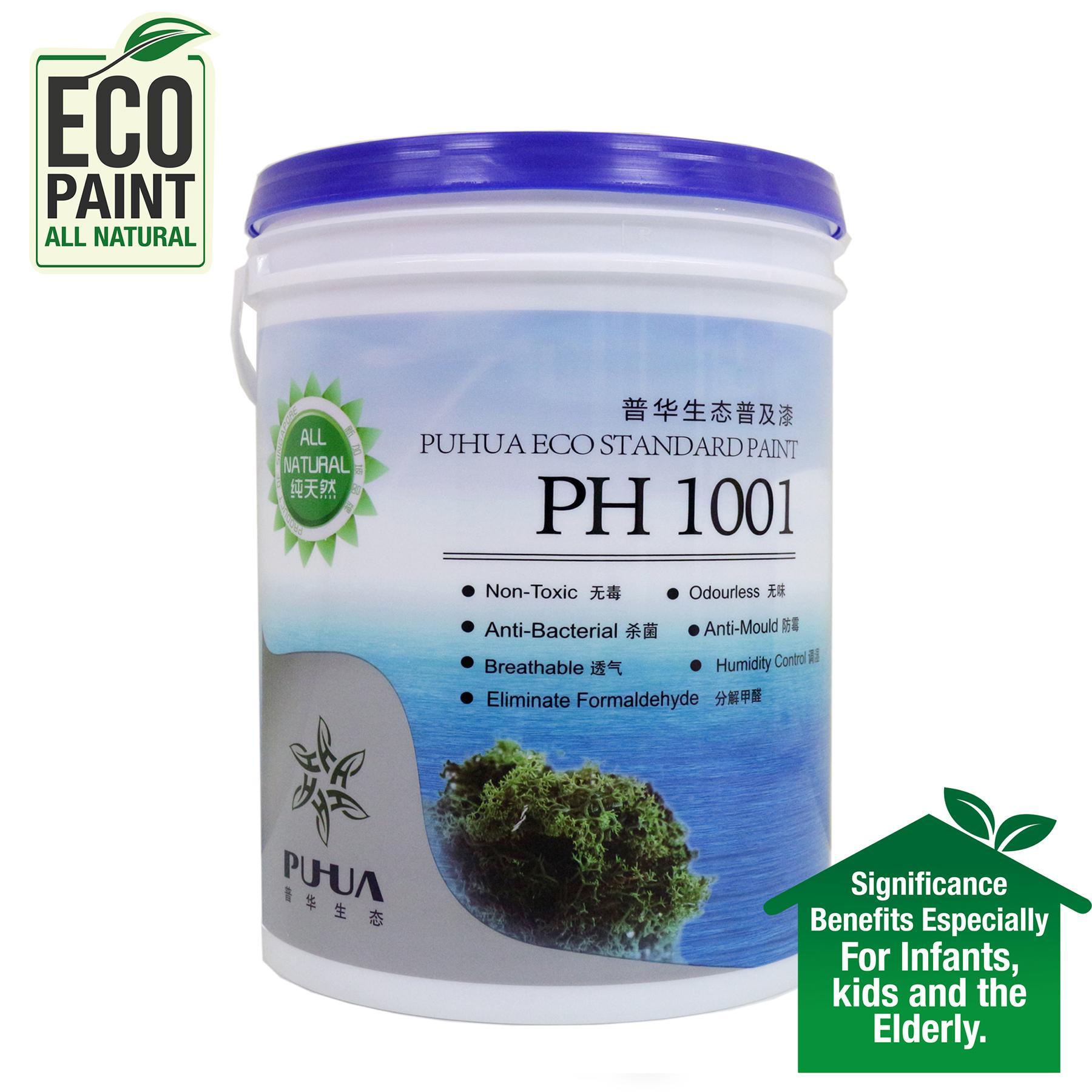 Puhua Eco Paint 1001 - ZERO VOC - Interior Wall Paint 5L