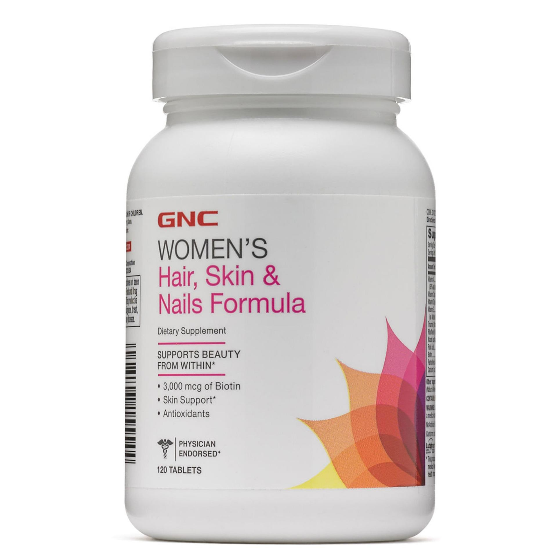 Gnc Womens Hair, Skin & Nails Formula 120 Tablets By Qq Wellness.