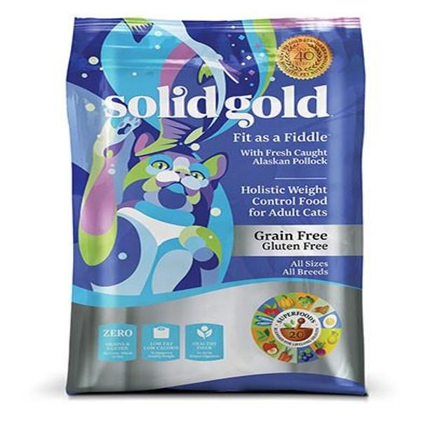 Discount Solid Gold Grain Gluten Free Fit As A Fiddle With Fresh Caught Alaskan Pollock Dry Cat Food 12Lb Solid Gold Singapore