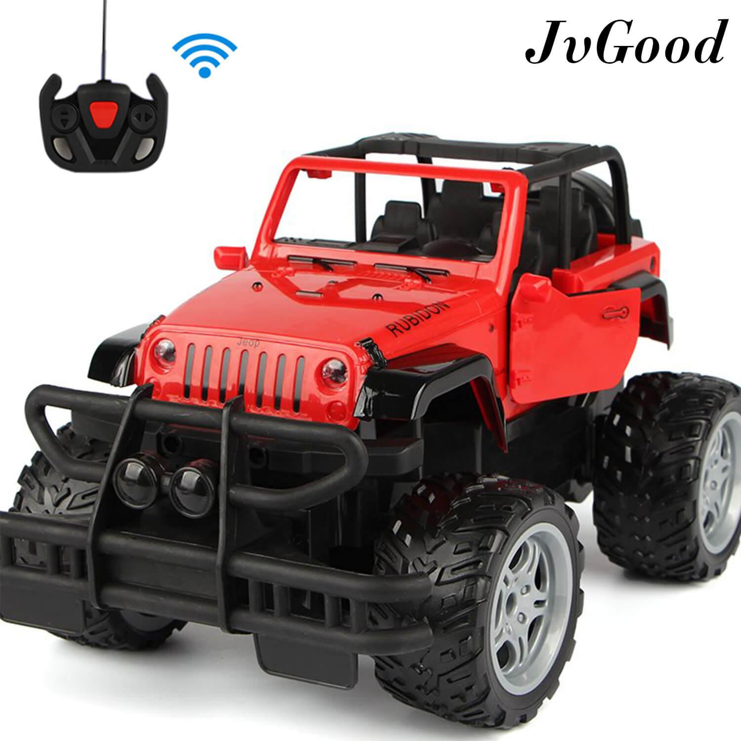 Jvgood Electric Rc Vehicles Cars Rock Crawlers Remote Control Toy Cars Radio Controlled Off-Road Vehicles Rc Climbing Cars Rc Drift Cars Electric Racing Car Monster Trunk Cars For Boys Kids By Jvgood.