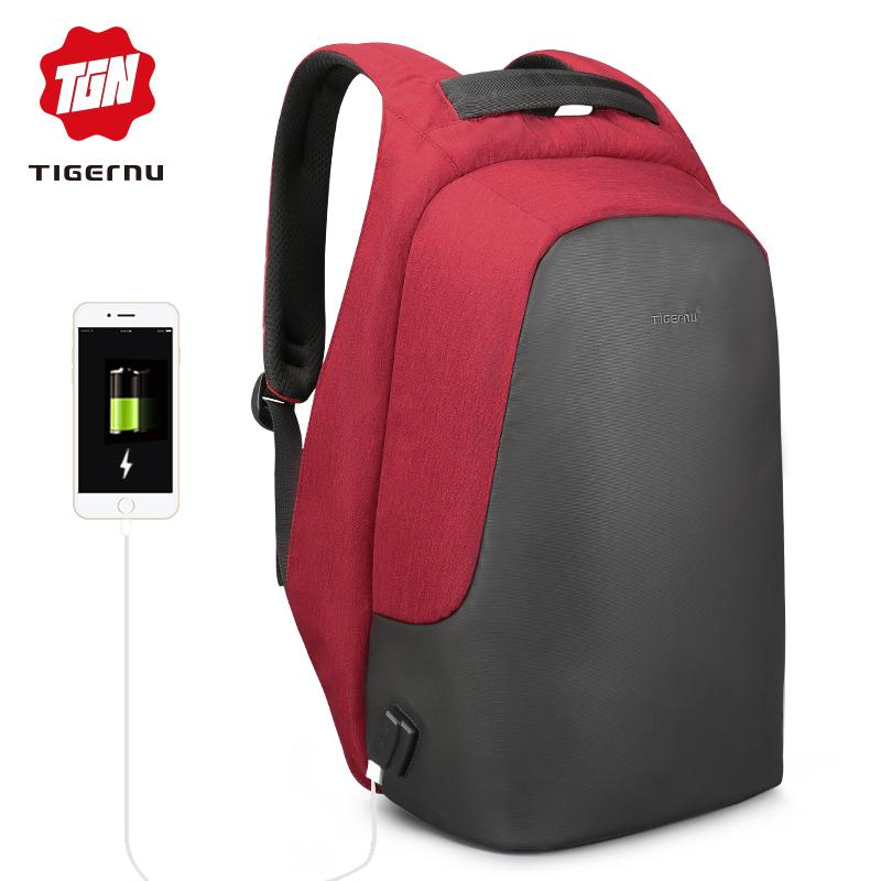 9dd191ca9f Tigernu Hidden Anti theft Zipper 15.6 inch Men School Laptop Backpacks  Trave Multi USB Charger Male