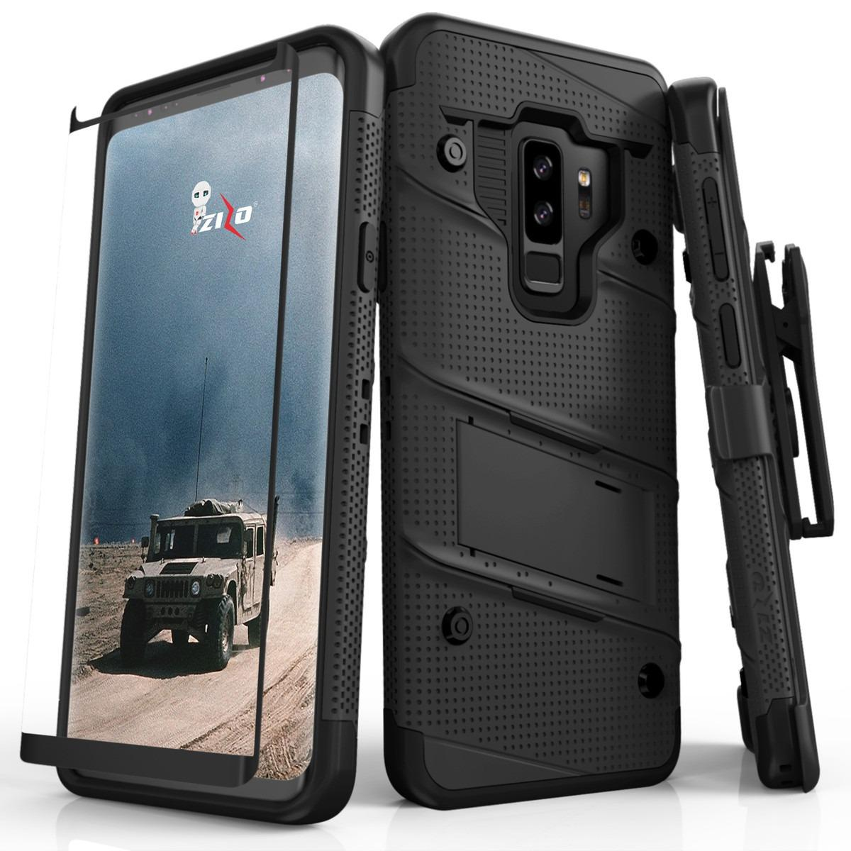 Zizo Bolt Case For Samsung Galaxy S9 Plus S9 12 Ft Drop Tested Curved Full Glass Screen Protector Full Coverage Casing Shock Resistant Coupon