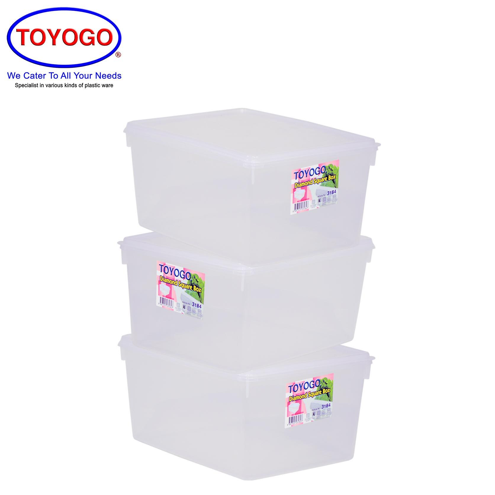 Toyogo 6L Diamond Container (Bundle of 3) (3184)