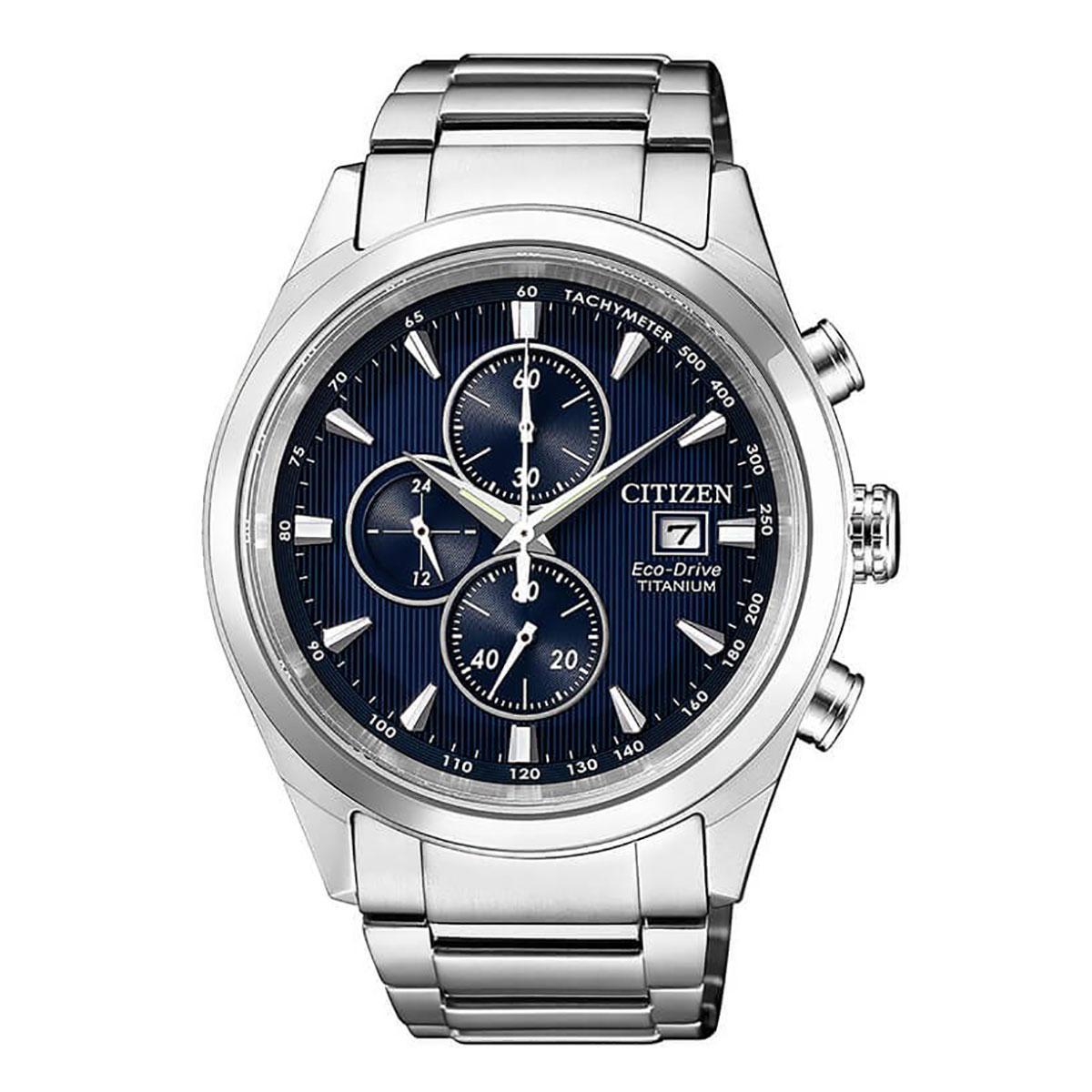 3644de54f7a Citizen Citizen Eco-Drive Chronograph Silver Titanium Case Titanium  Bracelet Mens CA0650-82M