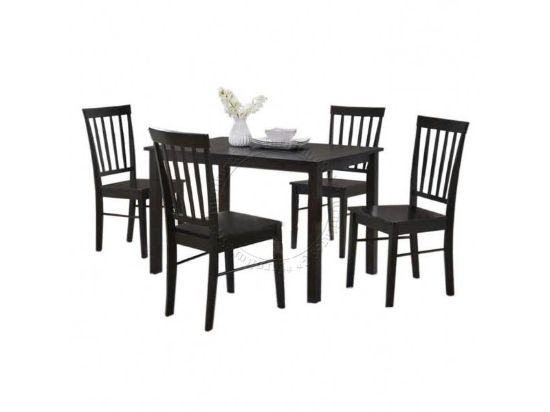 Solid Wood Dining Set (table + 4 Chairs) *free Installation* By Furnituresg.