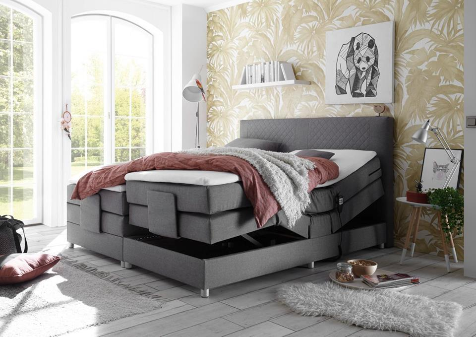 Motorized boxspring bed 160x200cm European Queen