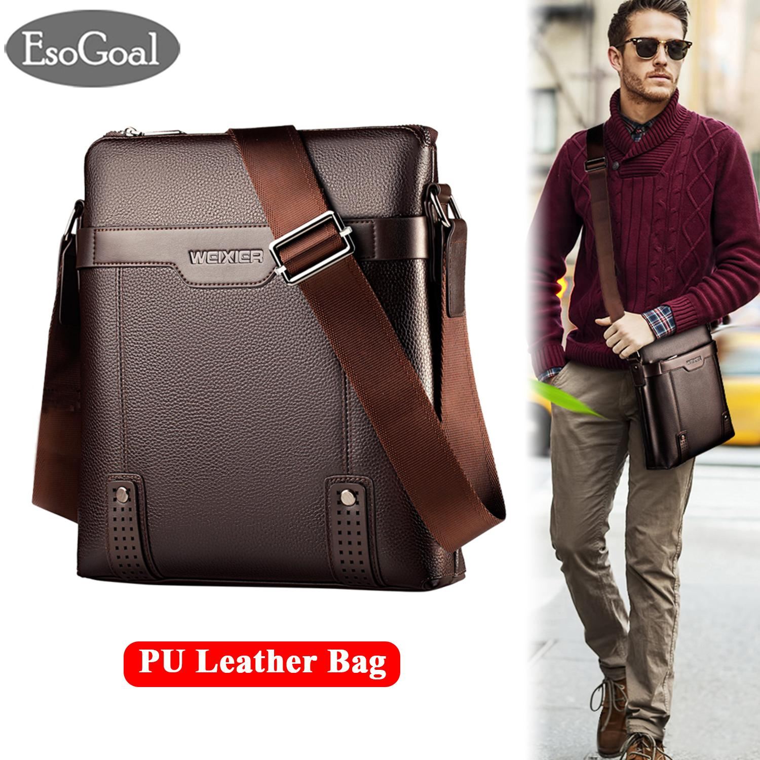 Esogoal Men Messenger Bag Pu Leather Sling Shoulder Crossbody Men Bag Handbag Men Casual Business Fashion Bag By Esogoal.