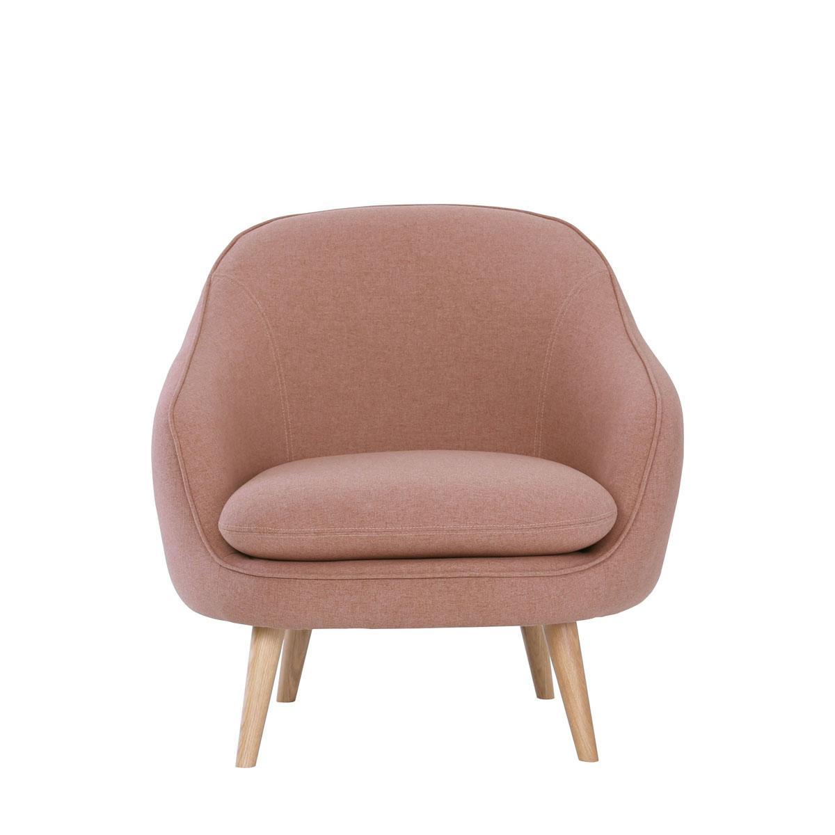 Prius Armchair Oak Leg for Living Room. Scandinavian Designer Chair