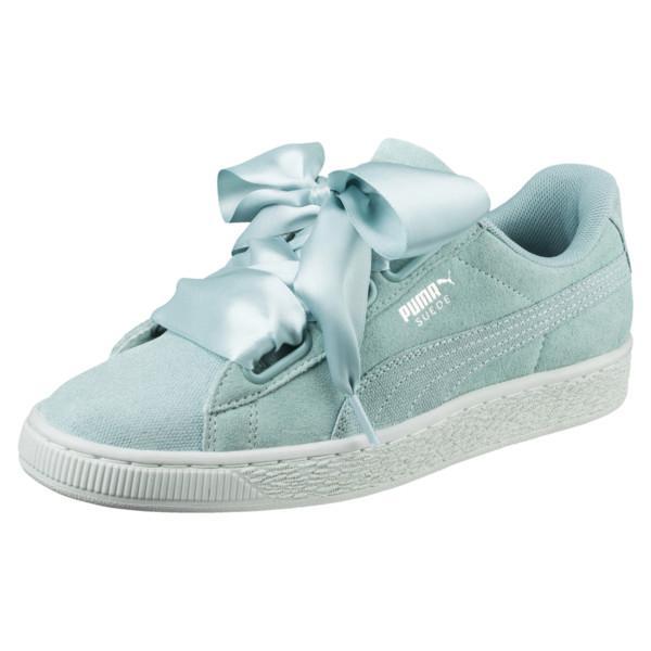 Singapore. Puma Suede Heart Pebble Women Sneakers - Aquifer-Blue Flower 6428c683f6b7
