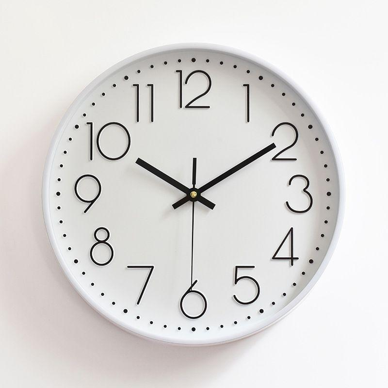 Wall Clock with Glass Cover