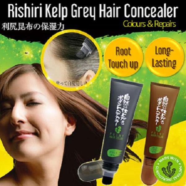 Buy Japan Rishiri Natural Kelp Grey Hair Concealer-Point Hair Color (Black) Singapore