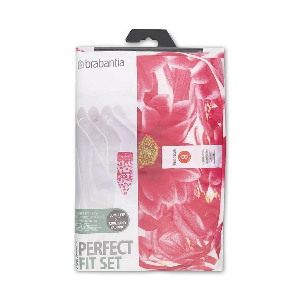 Brabantia Ironing Board Cover B 124X38Cm Cotton 4Mm Foam And 4Mm Felt Pink Santini Brabantia Discount
