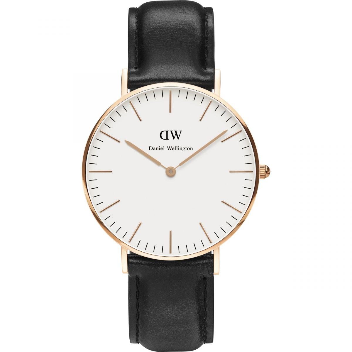 Best Offer Daniel Wellington Classic Black Sheffield Watch 36Mm Rose Gold