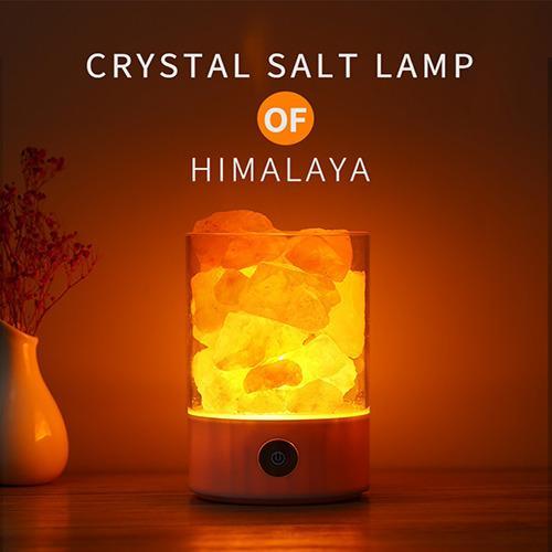 USB Colourful Crystal Salt Rock Himalayan Table Lamp Singapore