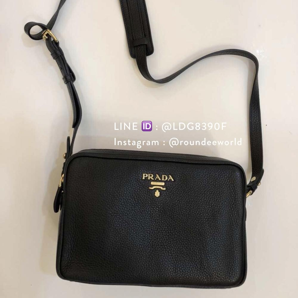 79ef8229dc0b0c Prada Vitello Phenix Bandolibra Sling Bag 1BH079 - Black Singapore