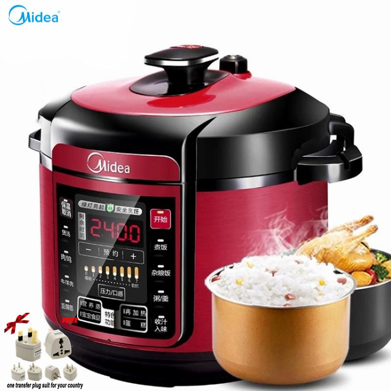Lahome Midea My - Qc50a5 Electric Pressure Cooker 5 L Household Multi-Function Double Bile Intelligent Booking The Rice Cooker By Lingbai Ad.