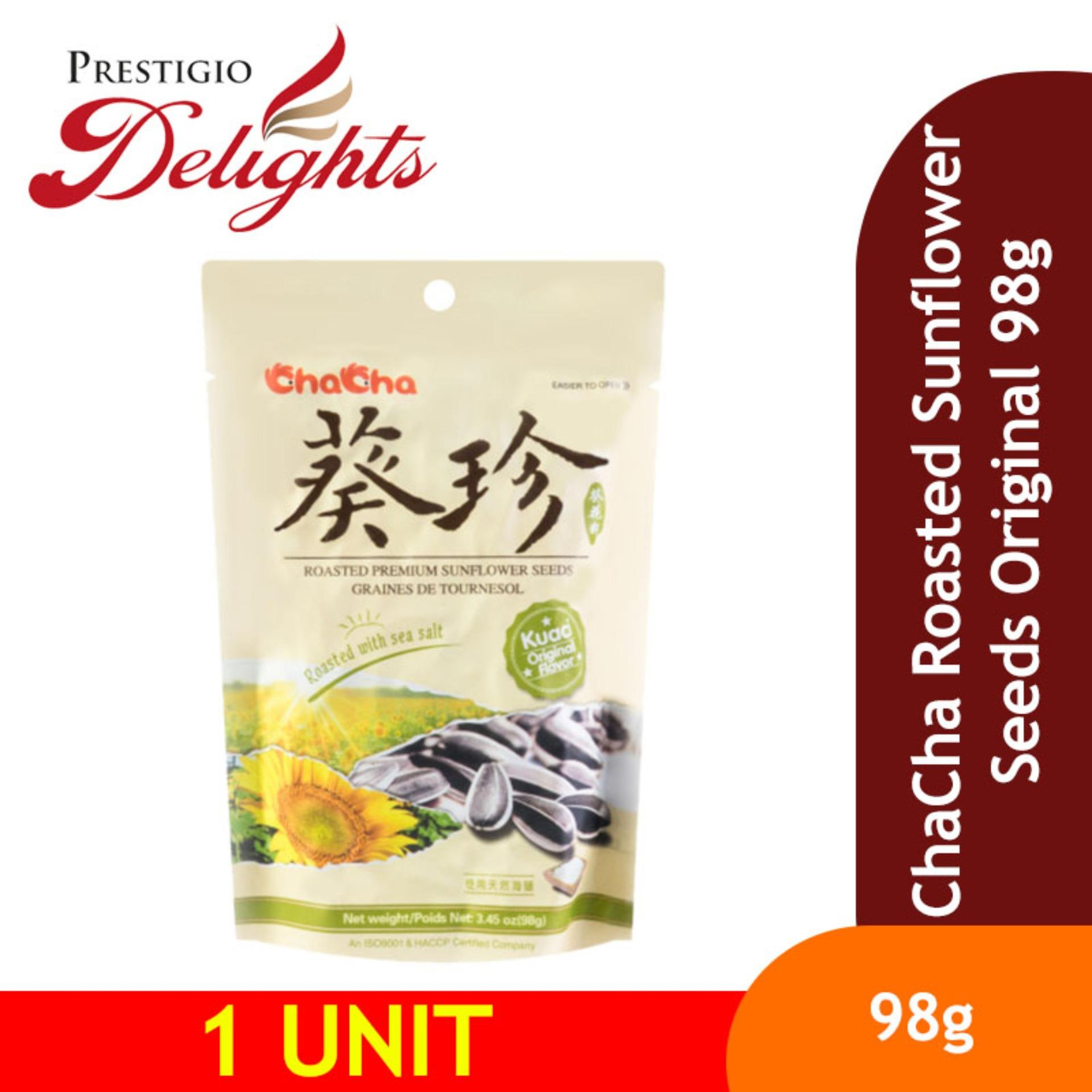 Chacha Roasted Sunflower Seeds Original 98g By Prestigio Delights.