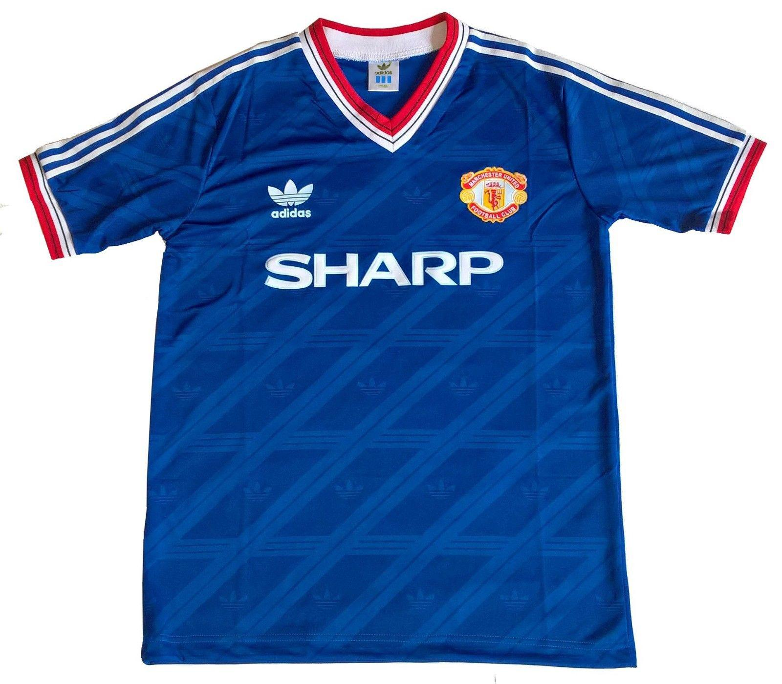 664293a55 Brand New Manchester United Adidas Originals 1986 Third Retro Football  Jersey Made In UK
