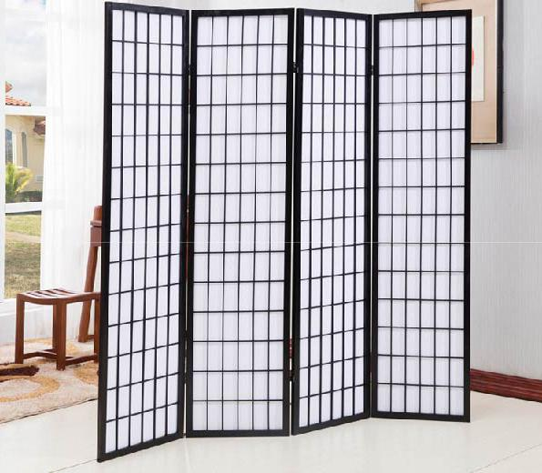 JIJI Japanese Portable Room Divider with Base Stand (Room Dividers & Screens) - Minimalist design / japanese feel/ Separator/Privacy/ Screen Filter(SG) Local Seller Warranty 1 Month