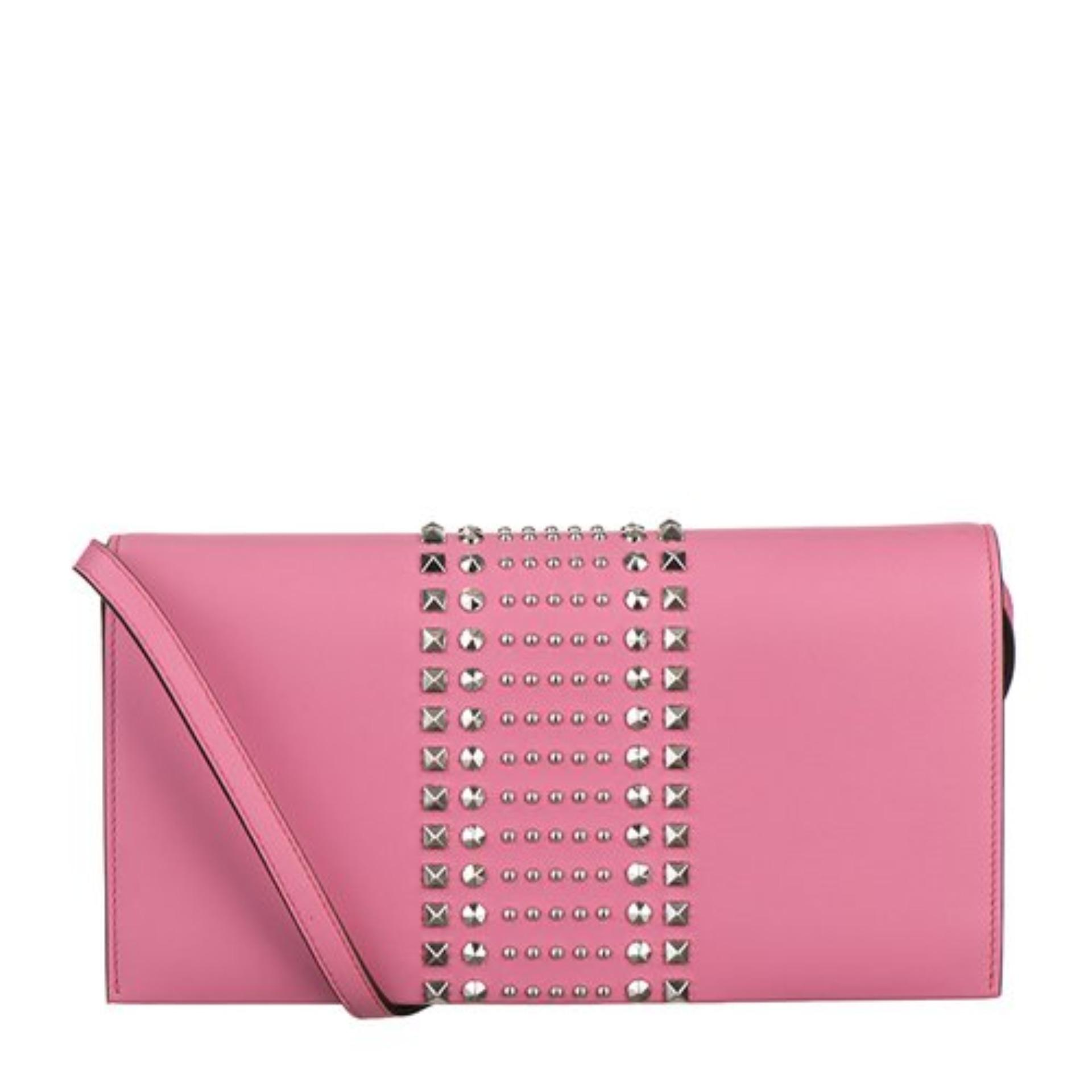 8ab4805bebc0ff Gucci Broadway Leather Clutch With Stud Detail (Pink) # 371929AP0KN5528