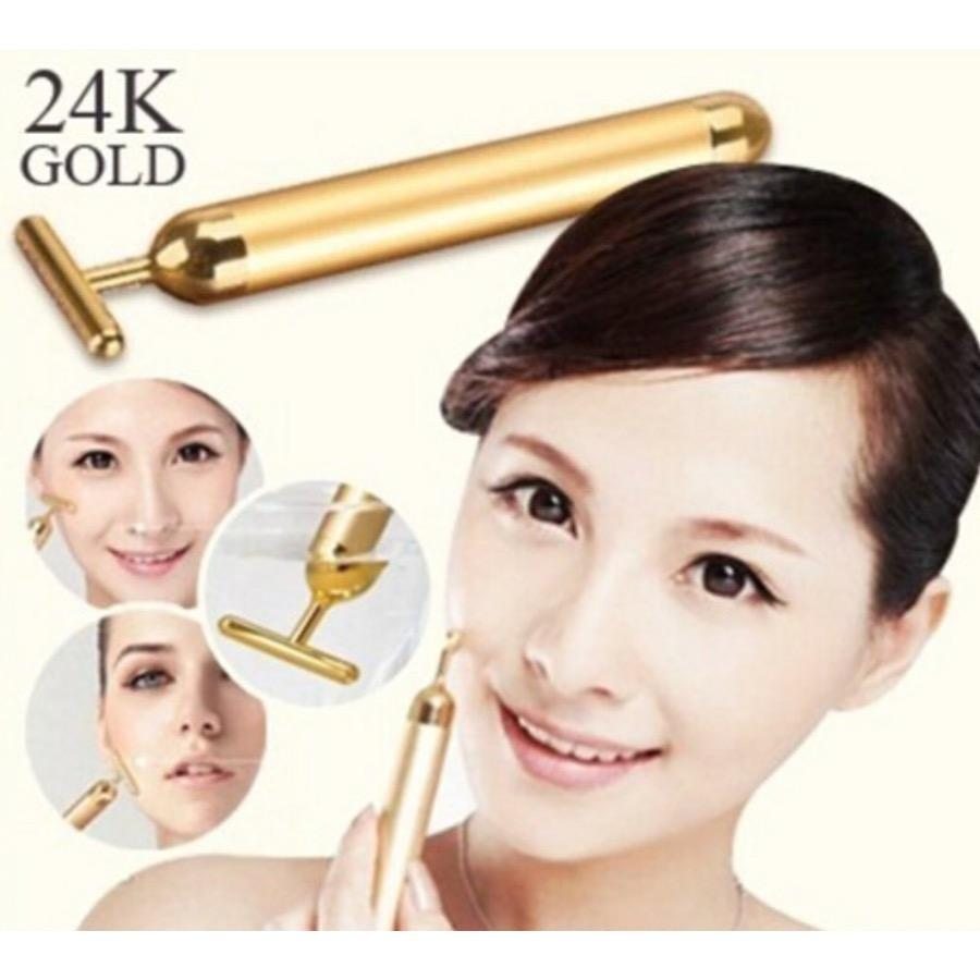 Discount 24K Gold Beauty T Shape Bar For Face Lifting Slimming Eye Massage Oem Singapore