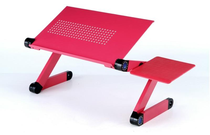 420 x 263 mm Laptop Table with Mouse Pad ★ 360° Adjustable Foldable Notebook Pc Desk Table Vented Stand Portable Bed Tray
