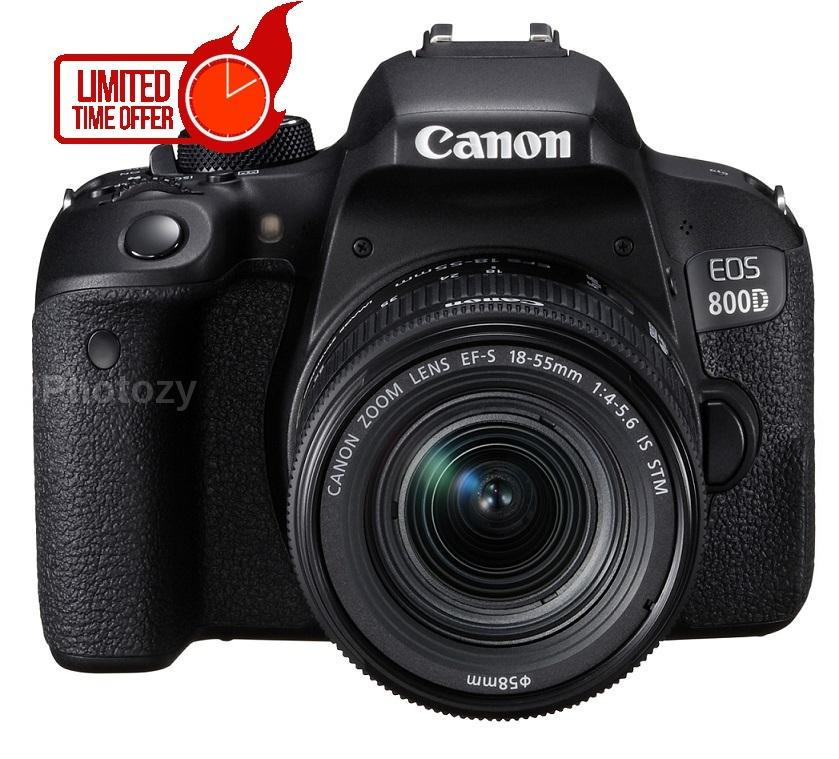 Canon Eos 800d + Ef-S 18-55mm Is Stm Lens By Photozy Cameras.