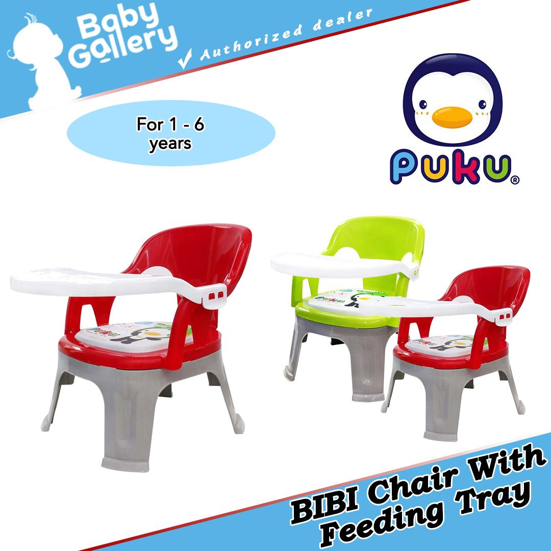 Puku BIBI Kid Chair With Feeding Tray (Red)