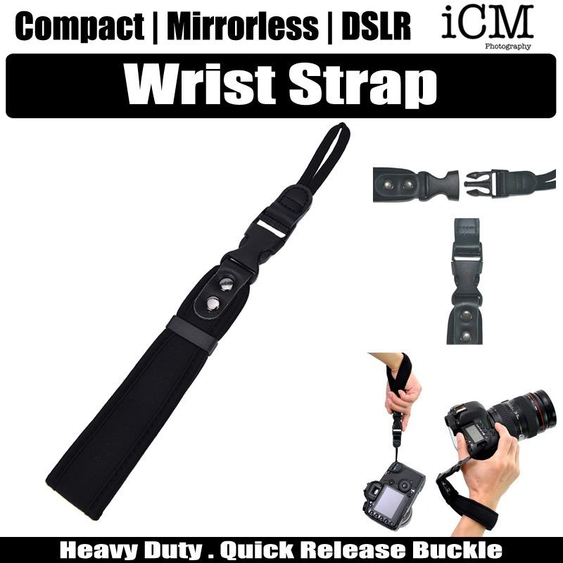 Compact Mirror Dslr Camera Hand Wrist Strap For Canon Nikon Olympus Pentax Panasonic Sony Leica By Icm Photography.