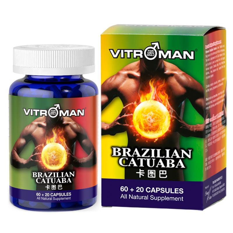 Sale! Vitroman Brazilian Catuaba, Expiry 08/2019, (80 Capsules) Enhance Male Performance- Natural Enhancement For Men, No Side Effects! By Beauty Nation.