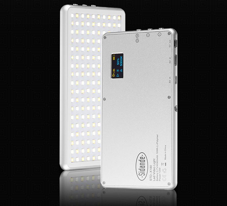 Standard X180 2in1 Portable Bi-Color Genius Led Light With Led Display & Powerbank Sidande Std X180 By Edslrs Sg.