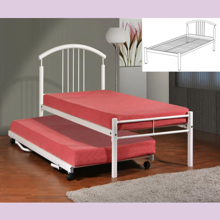 ALICE Single Bed with Pull Out + 2 Plywoods