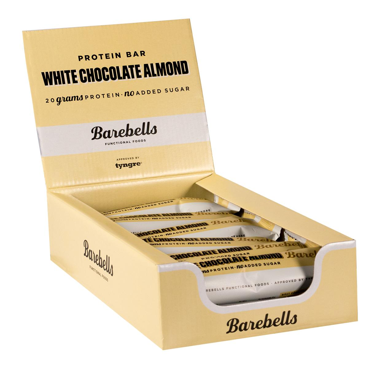 Barebells Protein Bar (12 Bars) - White Chocolate Almond By Nutrition Depot.
