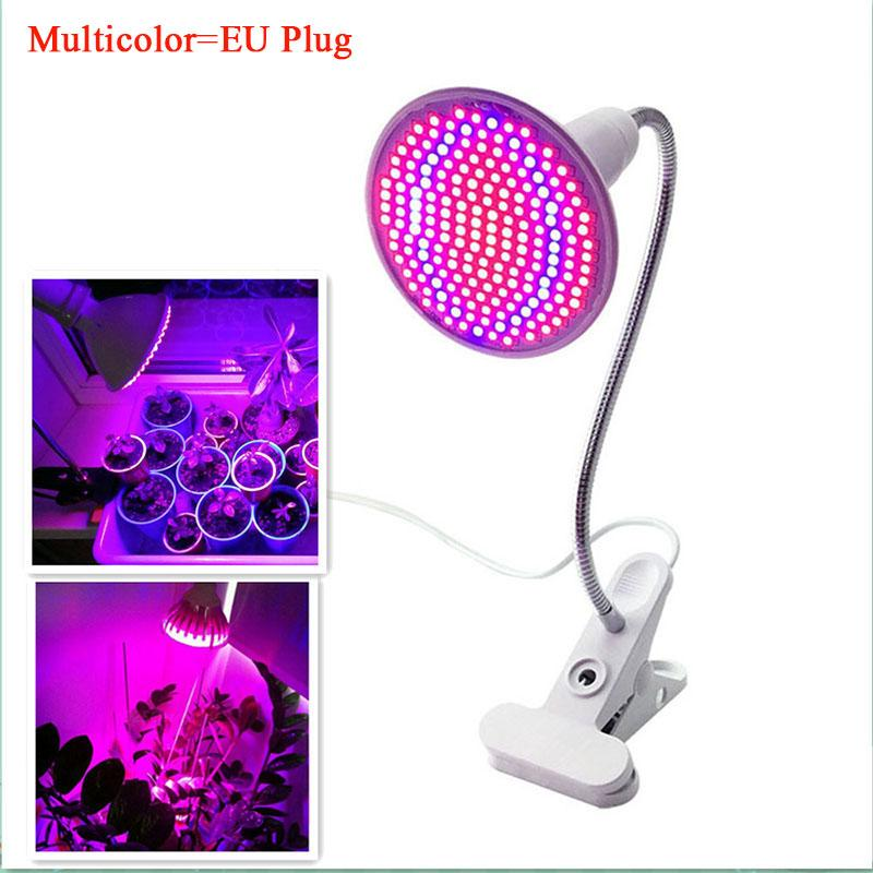 Redcolourful 200 LED 20W Single-head Clip Plant Grow Light with Red & Blue Light for Indoor Hydroponic Vegetable Cultivation