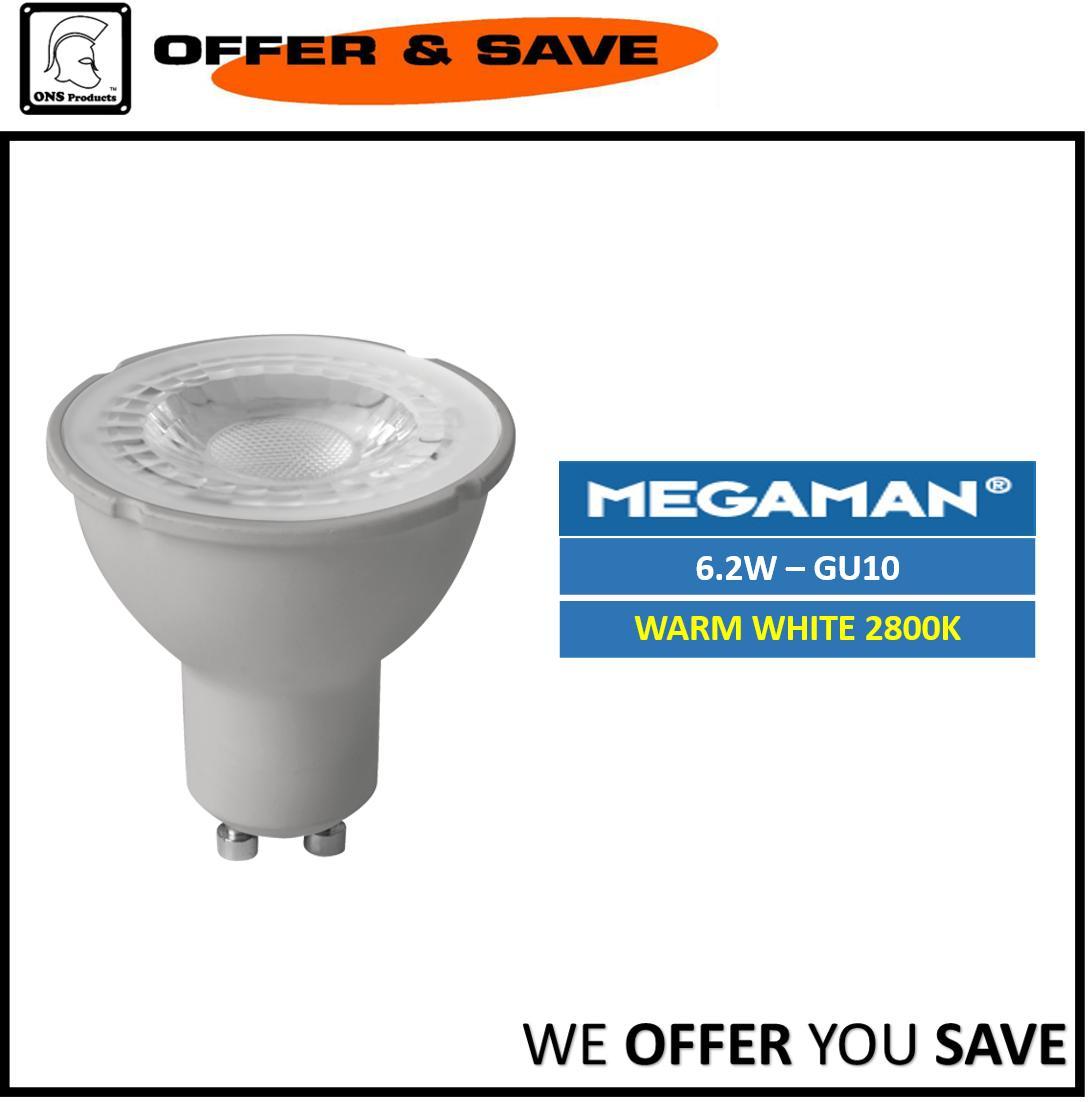 Megaman PAR16 Spot LED Bulb 6.2W GU10 Warm White Singapore