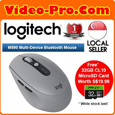 [Free 32GB MicroSDHC Card*] Logitech M590 Multi-Device Silent Bluetooth Mouse for Windows/Mac