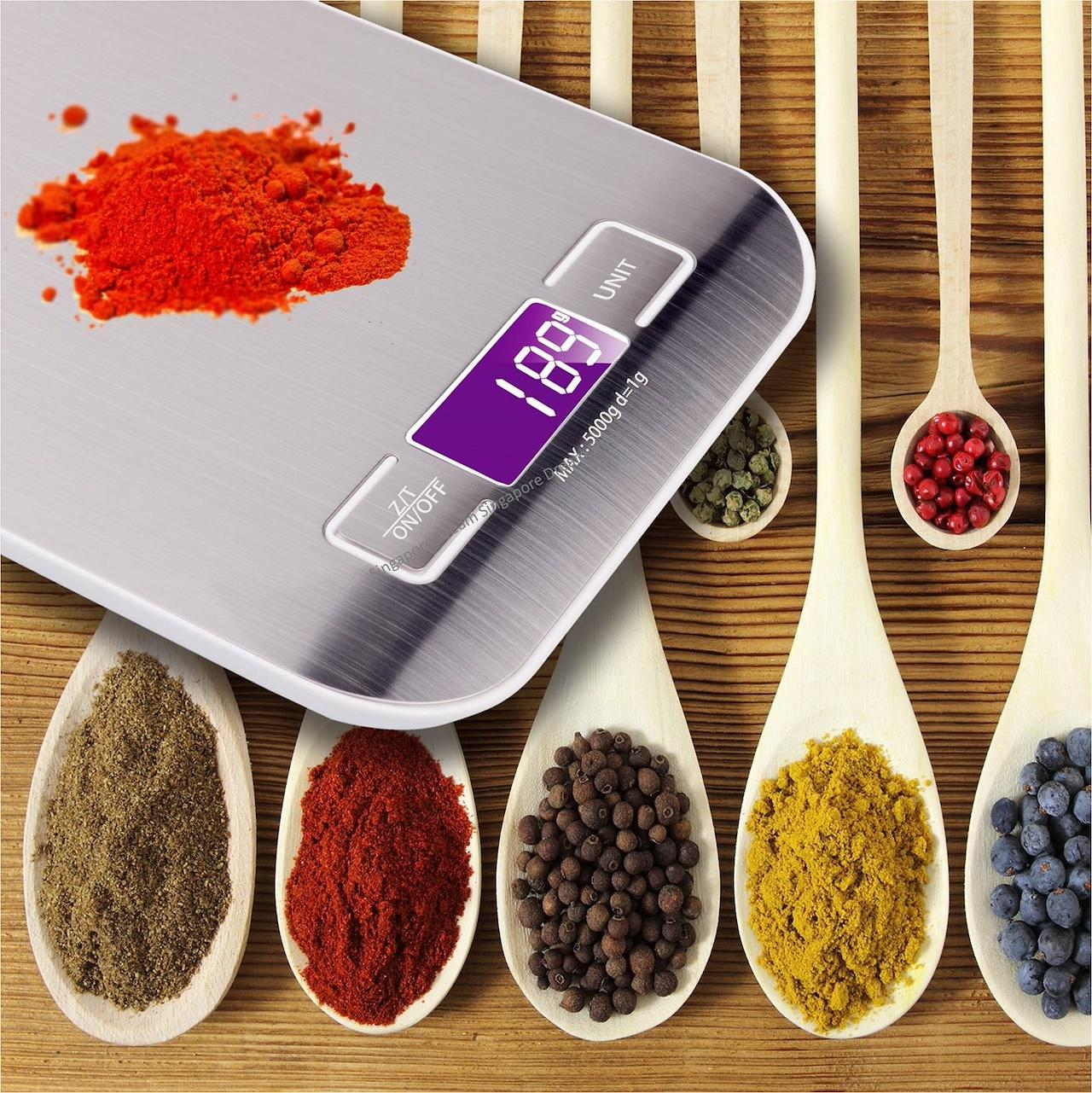 Compact Digital Kitchen Food Weighing Scale 5kg 11lbs / Lcd Digital Scale / Ideal For Baking Cooking By Singapore Dream.