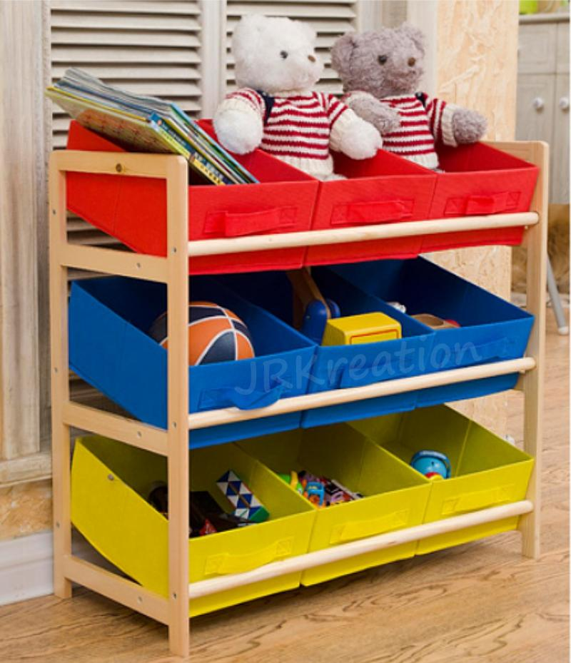 Kids Children Toys Storage Rack (Nylon containers)
