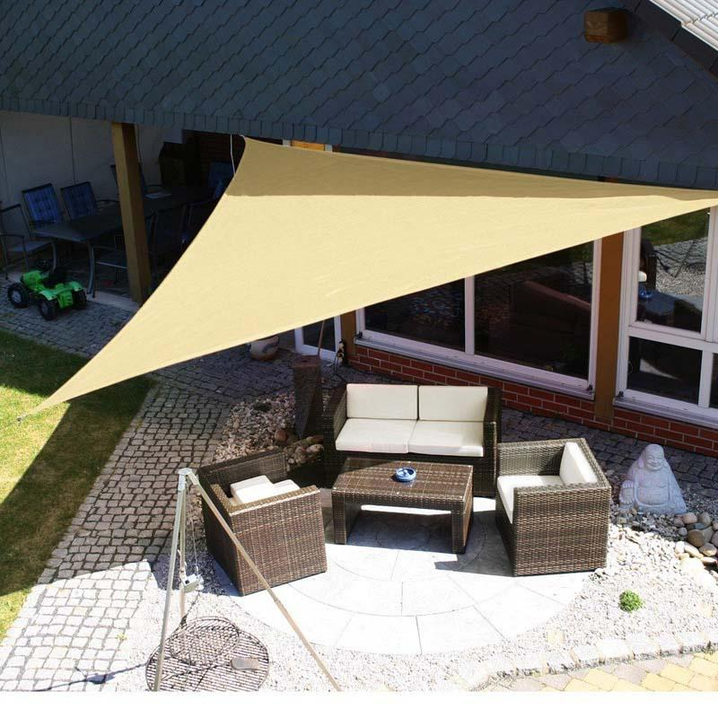 Triangle Sun Shade Sail Canopy 12 x 12, UV Block for Patio Yard Outdoor Activities