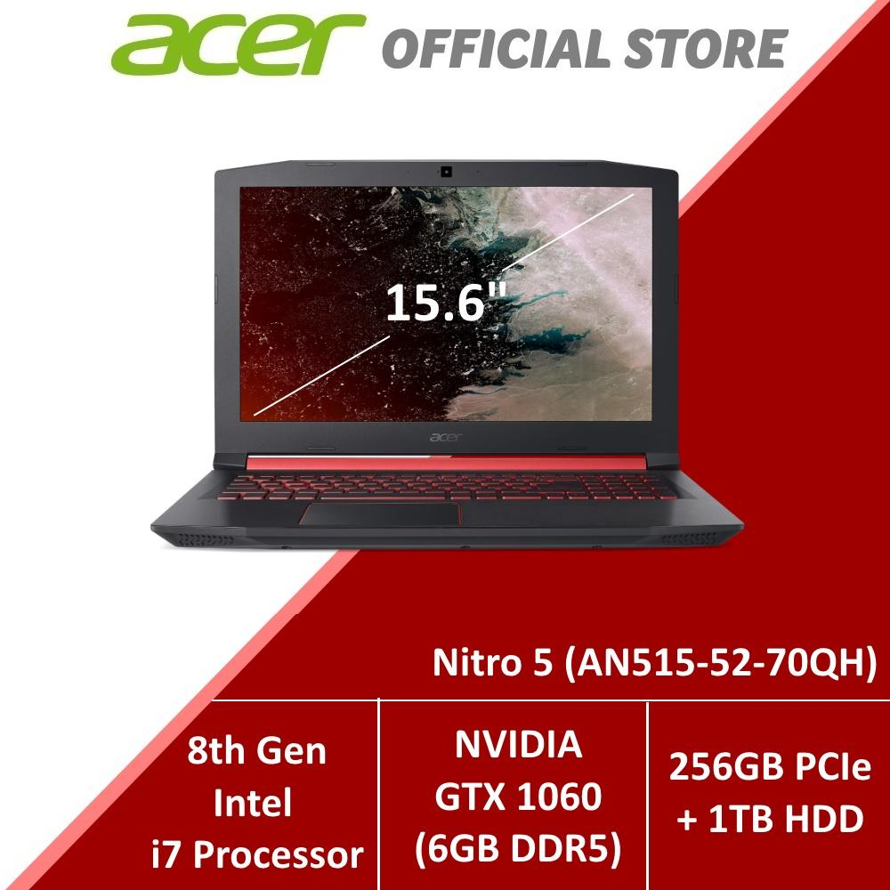 Acer Nitro 5 (AN515-52-70QH) Gaming Laptop - 8th Generation i7 Processor with GTX 1060 Graphics