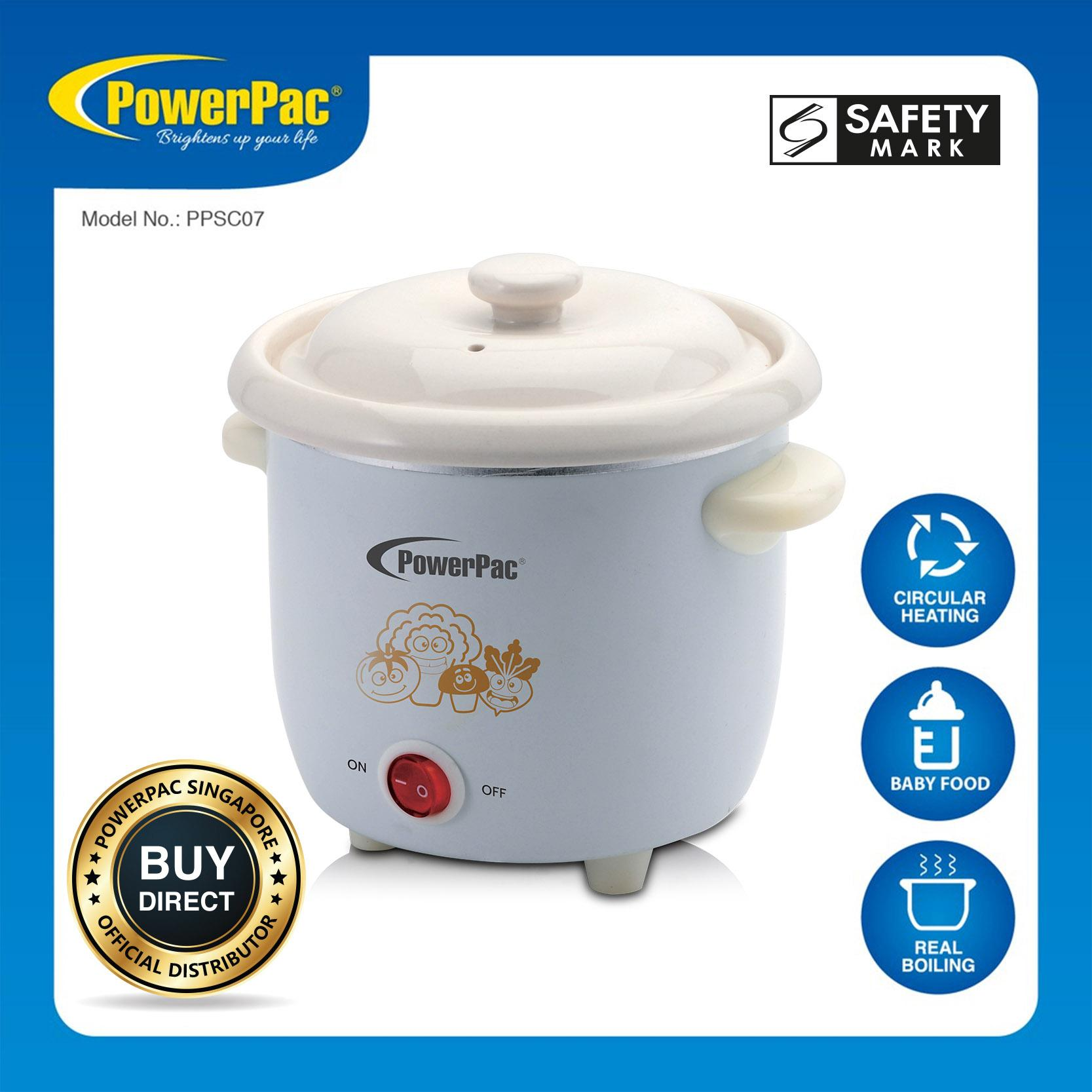 PowerPac 0.7L Slow Cooker with Preset Function Selector (PPSC07)