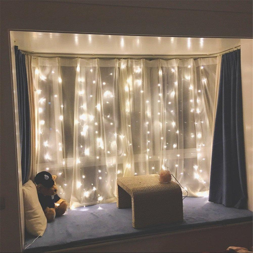 [SG Seller] - Drop down Led curtain lights 3m x 3m fairy lights USB battery operated