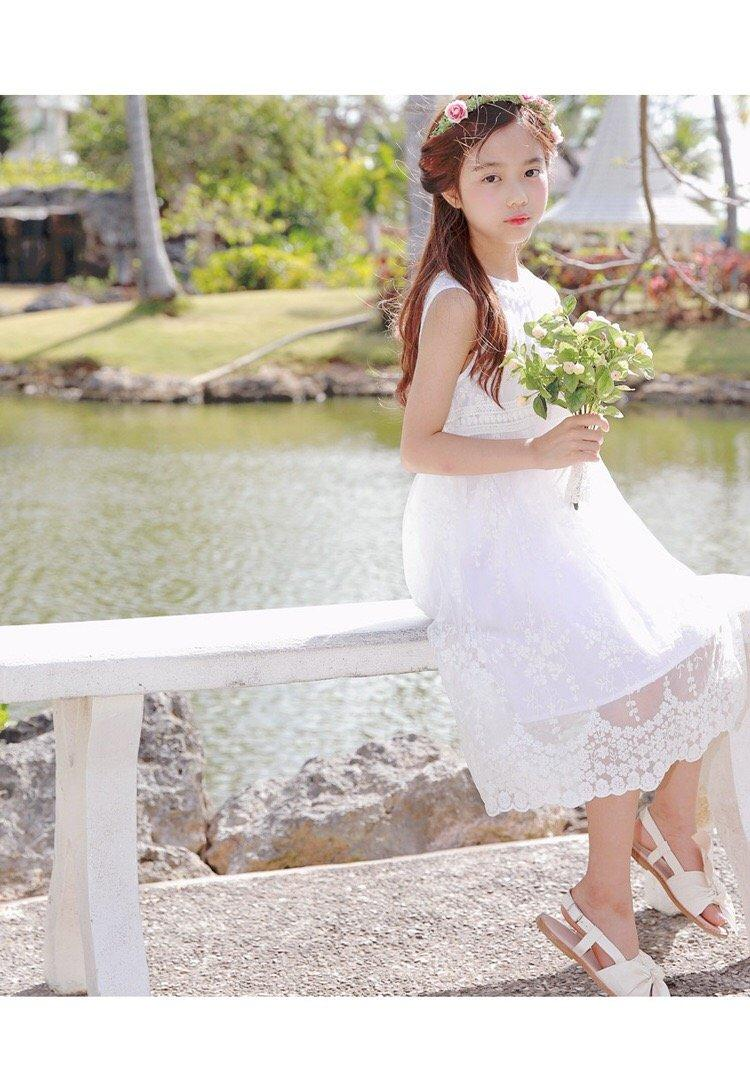 c56c7888074 3-15Y Girls Lace Feminine Flower Girls Dress G21034D (Mother size available)