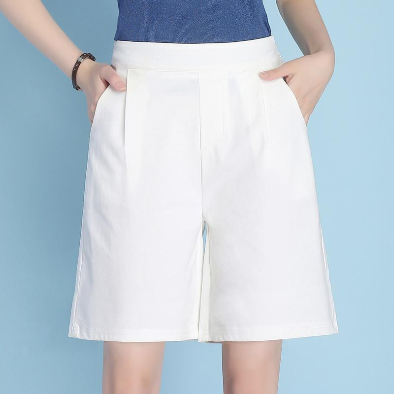 8b6fe8b2a426 2019 New Style Shorts Female Summer Thin Section Wide-Leg Bermuda Shorts  Straight Large Size